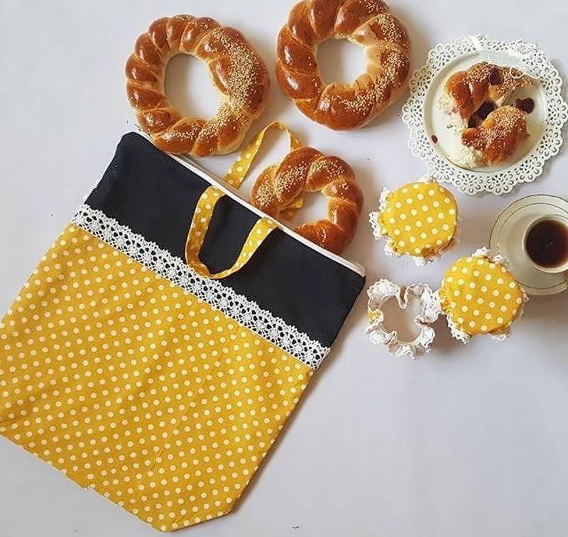 آموزش دوخت کیسه پارچه ای برای نان و سبزی با الگو