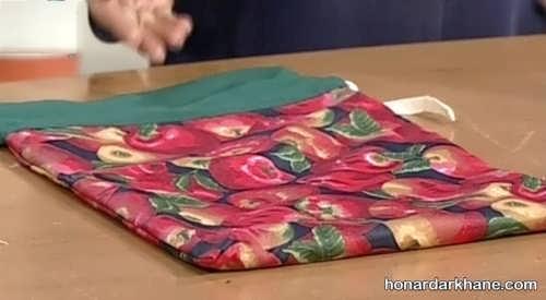 طریقه دوخت کیسه پارچه برای سبزی