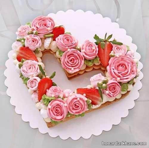 بیسکو کیک قلبی