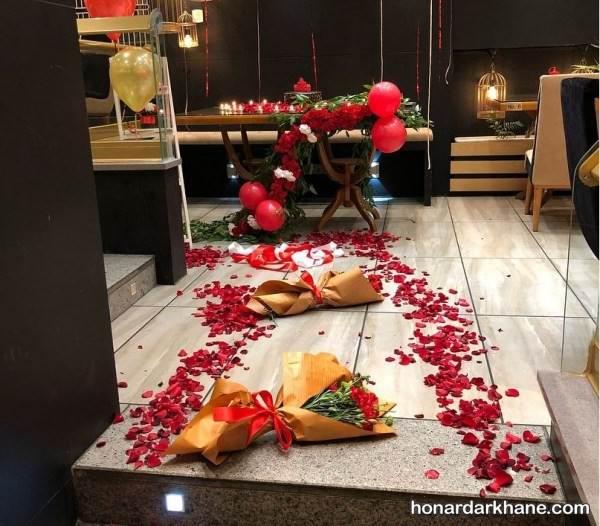 تزیین عاشقانه خانه برای ولنتاین