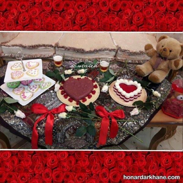 تزیین میز برای ولنتاین