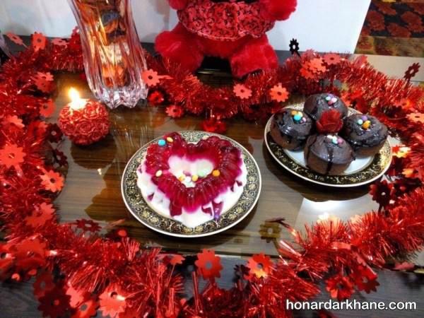 میز ولنتاین با تزیین رمانتیک