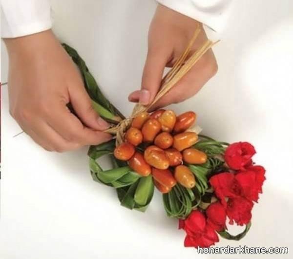 تزیین سنجد با گل طبیعی