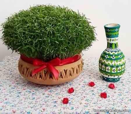 کاشت سبزه با ماش