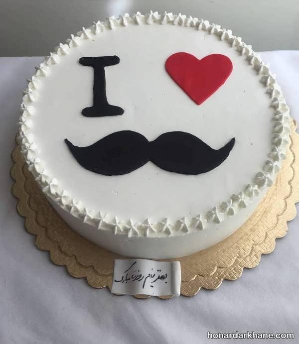 تزئین جدید کیک روز مرد