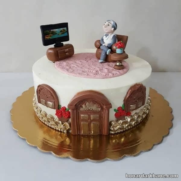 تزئین جذاب کیک روز مرد