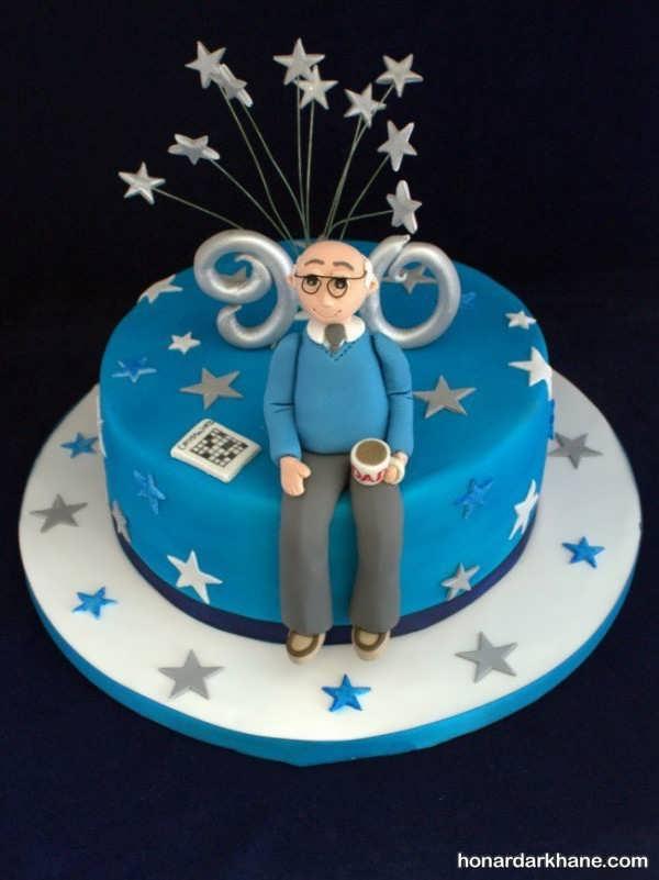 تزئین زیبا و جدید کیک روز مرد