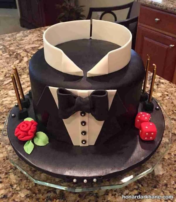 تزئین کیک روز مرد و پدر با ایده های جدید