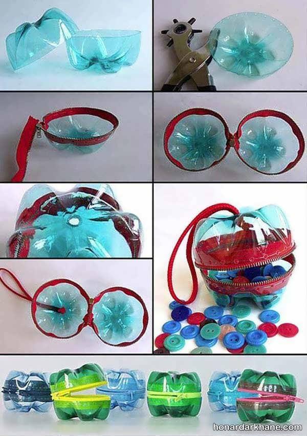 ایده های هنرمندانه برای ساخت کاردستی با بطری