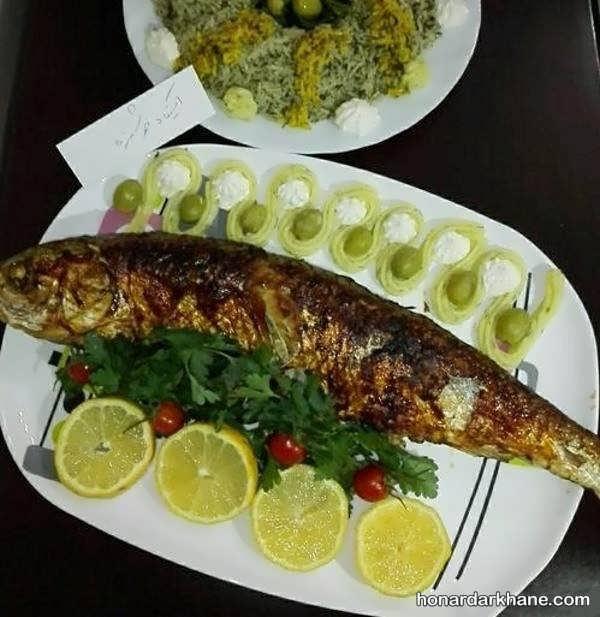 تزیینات خاص سبزی پلو با ماهی