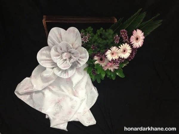 مدل های زیبای تزئین چادر عروس