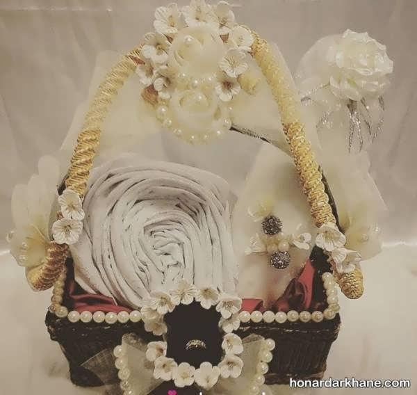 مدل تزئین چادر عروس برای مراسم نامزدی