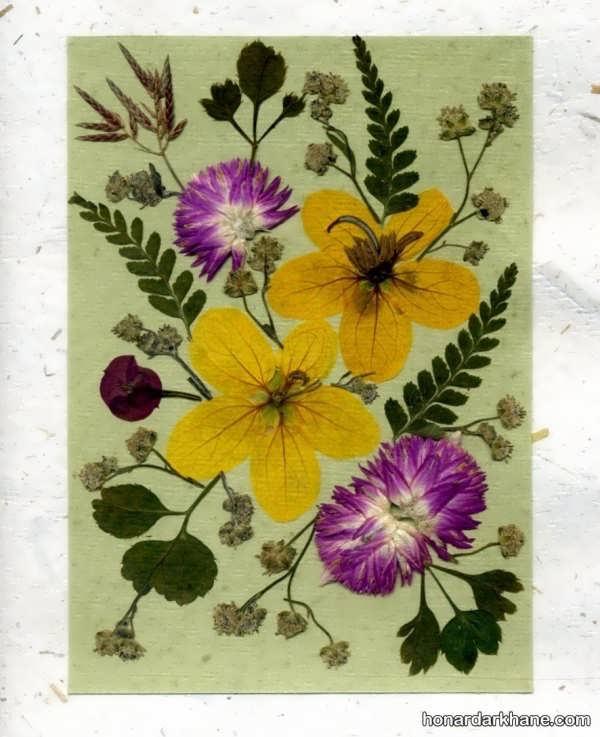 تزیینات زیبا گل خشک