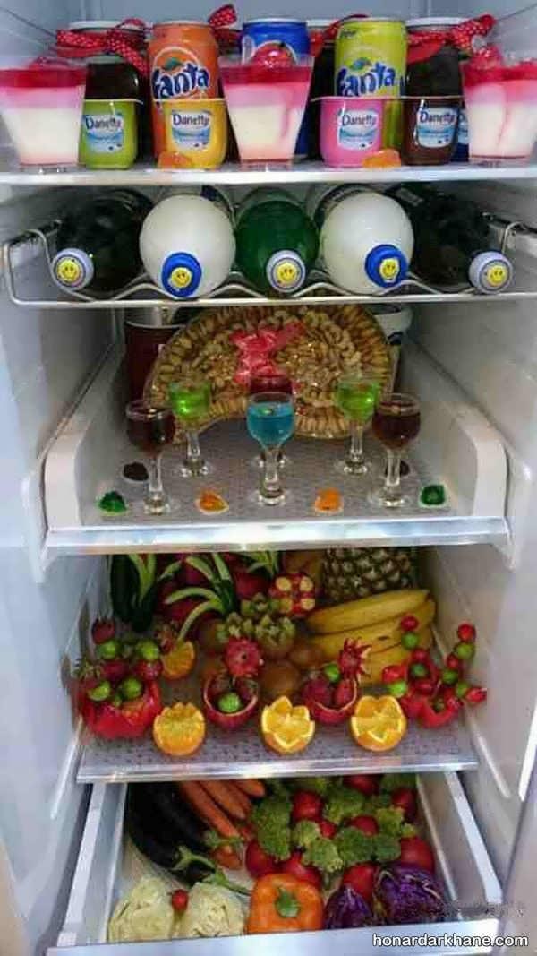 دیزاین یخچال عروس با ایده های شیک