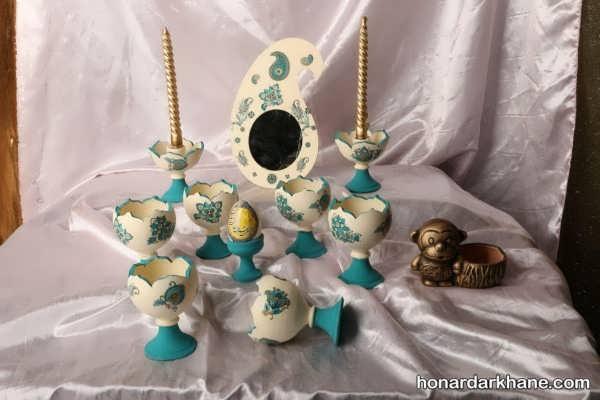 ایده های هنرمندانه برای تزئین سفره هفت سین با ظرف سفالی