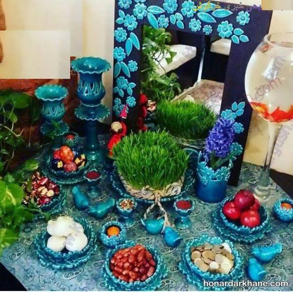 خلاقیت برای تزئین سفره هفت سین با ظرف سفالی