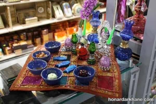 ایده های زیبا برای تزئین سفره هفت سین با ظرف سفالی