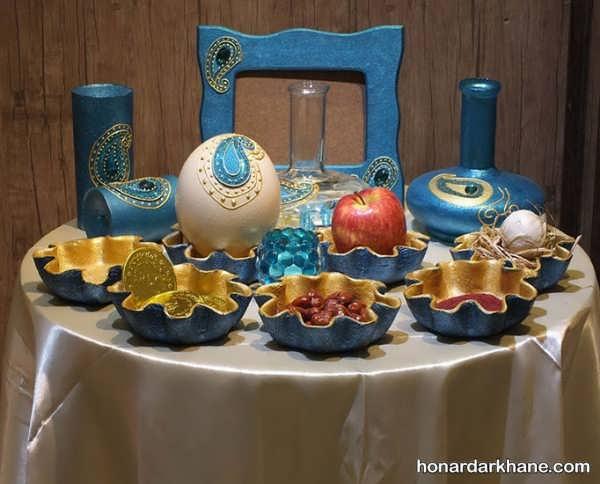 تزئین جالب هفت سین با ظرف سفالی
