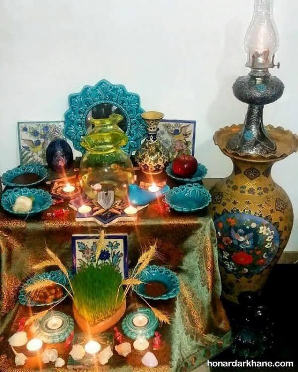 تزئین جذاب هفت سین با ظرف سفالی