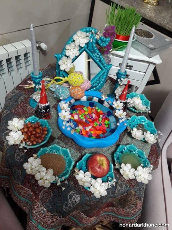 تزئین خاص هفت سین با ظرف سفالی
