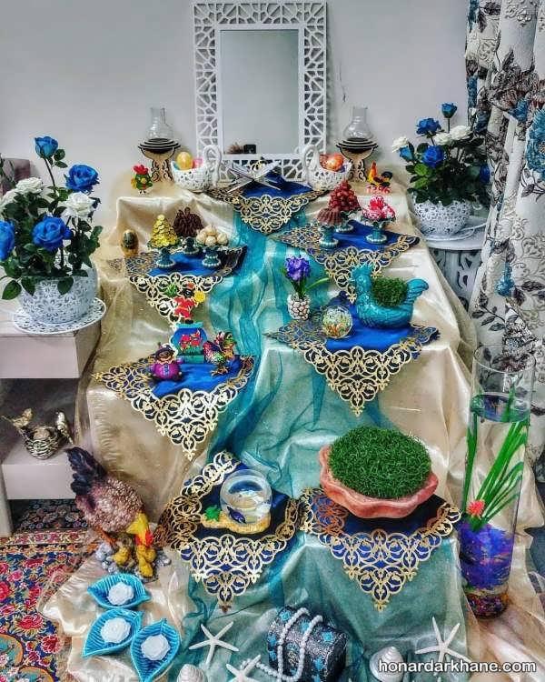 تزئین متفاوت هفت سین با ظرف سفالی