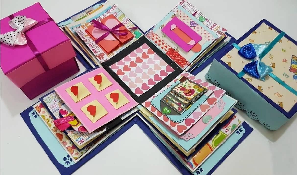 آموزش ساخت جعبه سورپرایز چند لایه زیبا برای هدیه به مخاطب خاص