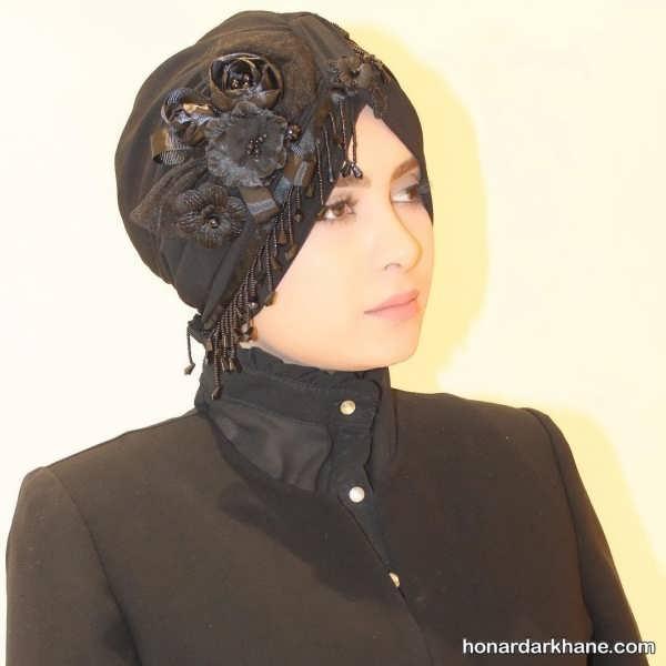 کلاه حجاب مجلسی متفاوت