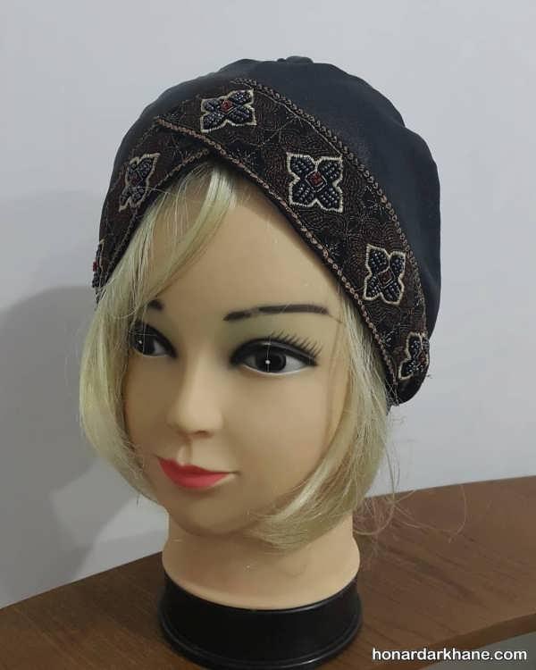 انواع کلاه حجاب مجلسی