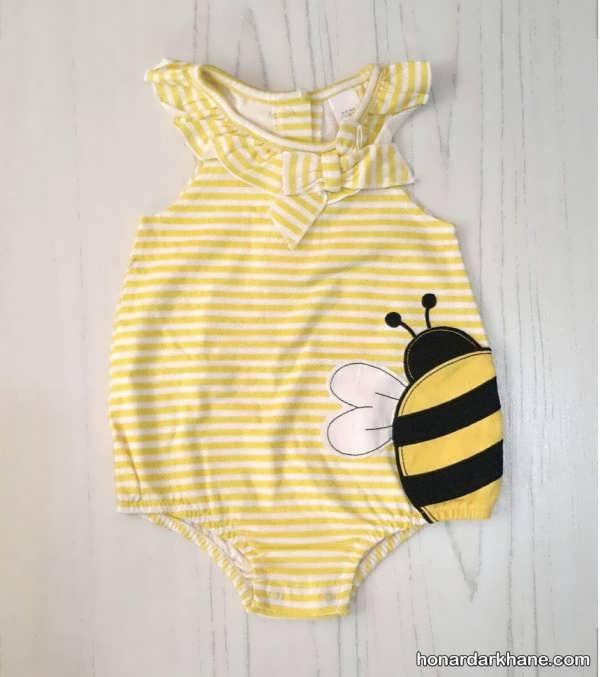 مدل لباس نوزاد دخترانه با طرح های قشنگ