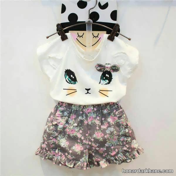 مدل لباس نوزاد دخترانه با طرح و رنگ متفاوت