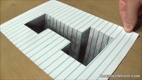 نقاشی های سه بعدی متفاوت
