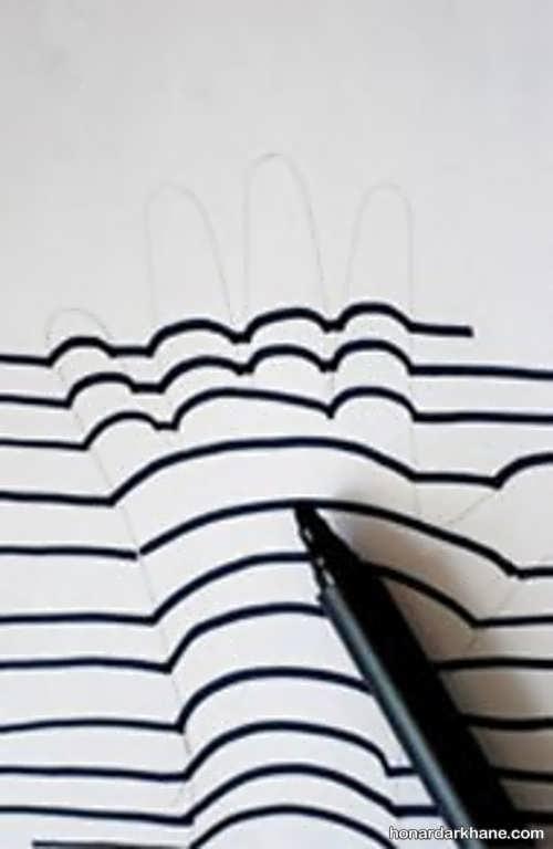ترفند کشیدن نقاشی سه بعدی
