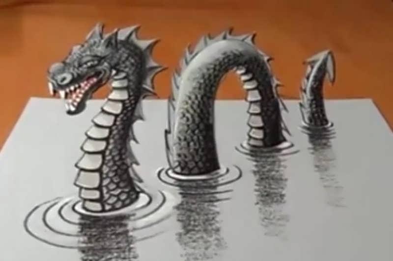 آموزش نقاشی سه بعدی آسان و زیبا با روشی خاص