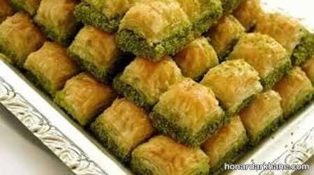 مواد لازم برای تهیه باقلوا ترکی