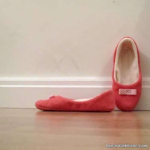 روش دوختن کفش روفرشی جالب