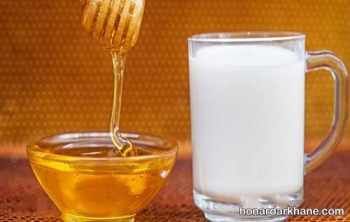 ماسک عسل و شیر