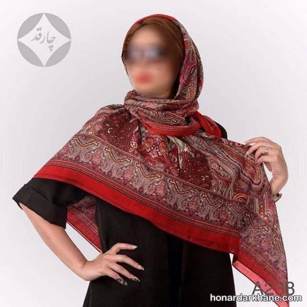 مدل روسری نخی بزرگ