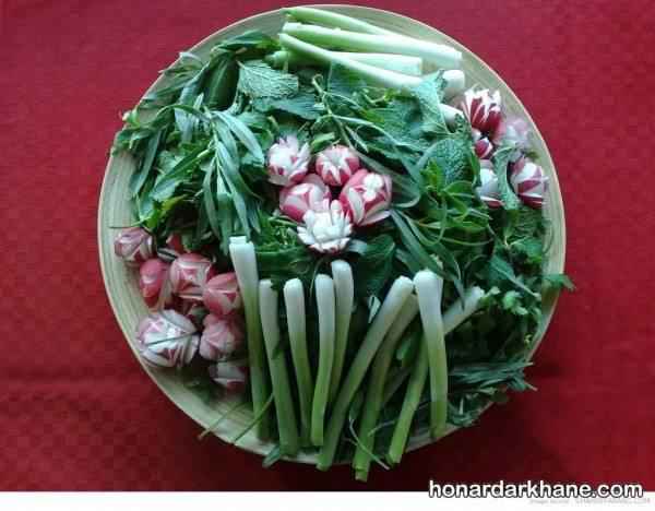 تزیین سبزی با تربچه