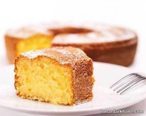 طرز پختن کیک وانیلی