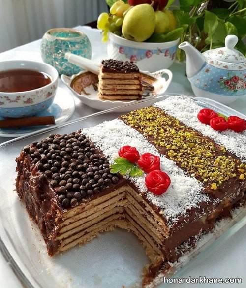 تزیین کیک یخچالی