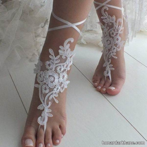 مدل پابند گیپور عروس