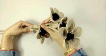 ساخت گل با کنف