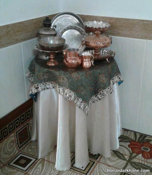 تزیین میز با ظروف مسی