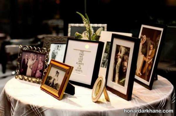 تزیین میز خاطره با عکس