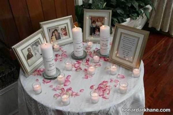شمع آرایی روی میز خاطره
