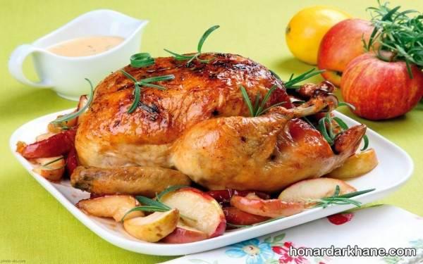 تزیین مرغ شیک و زیبا