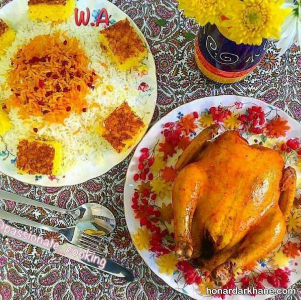 تزیین کردن مرغ جلسی