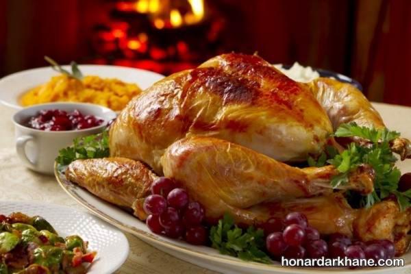 تزیین مرغ برای مهمانی