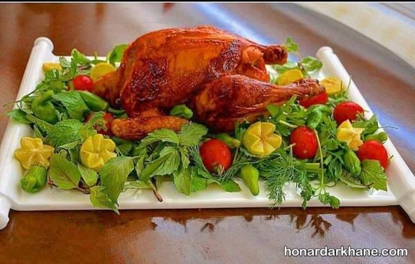 تزیین کردن مرغ