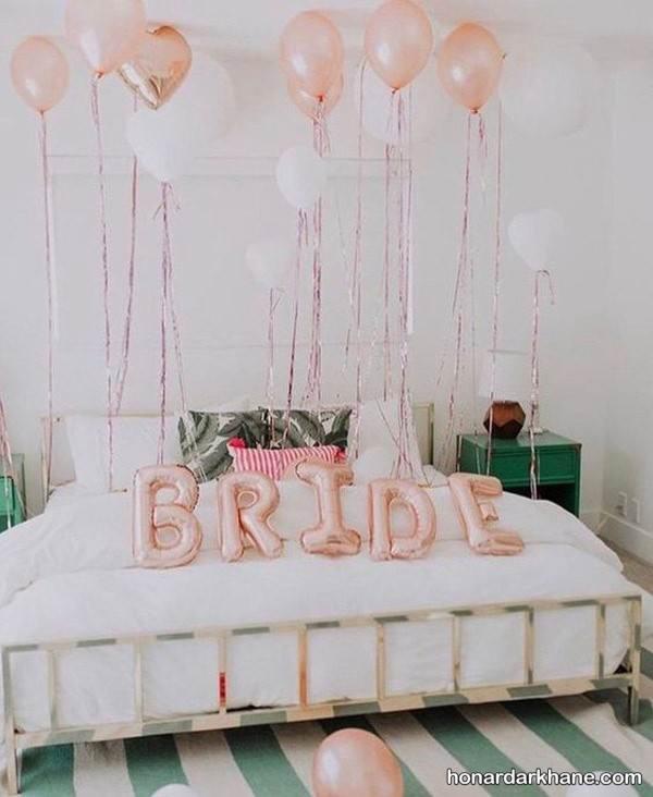 تزیین رمانتیک اتاق عروس